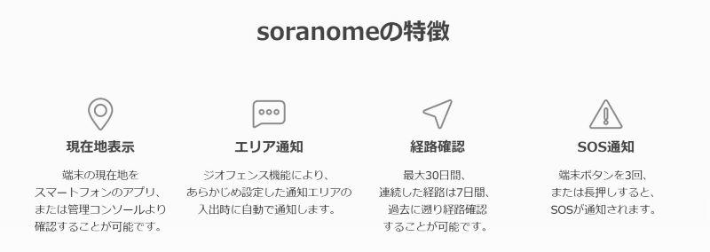 ソラノメの4つの特長