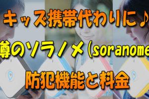 キッズ携帯代わりに♪シンプルな見守り「ソラノメ(soranome)」の防犯機能と料金