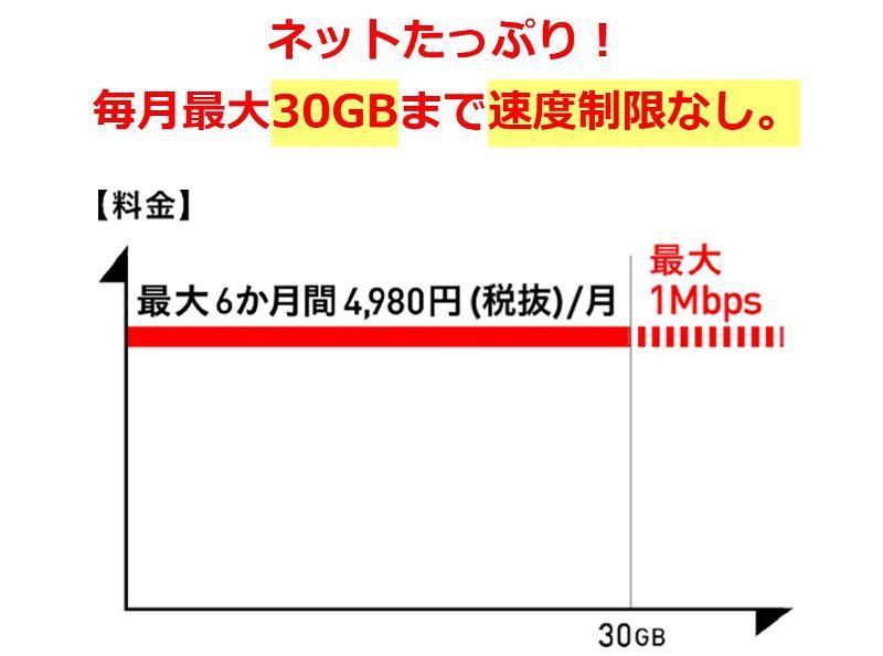 ドコモの大容量プラン「ギガホ」は月容量30GBと超過時も速度制限なし(1Mbps)