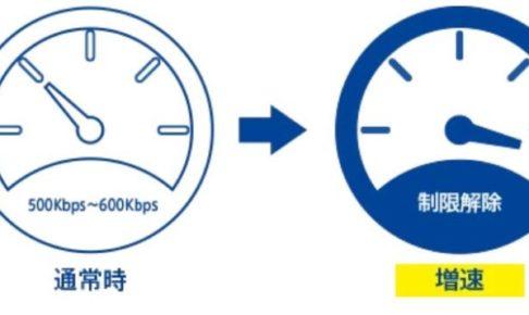 通常は中速無制限(500~600kbps)で、必要な時に高速通信へ切り替える事で最低限の料金に抑える事が可能