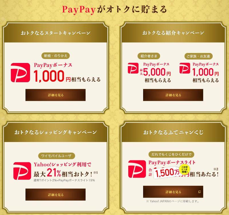 ワイモバイルの5周年キャンペーンでPayPayポイントが貯まる