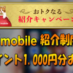 ワイモバイル紹介キャンペーンで1,000円分のPayPayポイントが貰える♪
