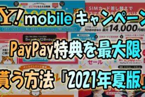 ワイモバイルキャンペーンPayPay特典を最大限貰う方法【2021年夏版】