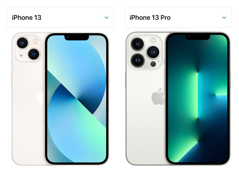 iPhone13とiPhone13Pro
